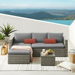 EVRE Malibu Rattan Garden Furniture Set Patio Conservatory Indoor Outdoor