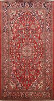 Vintage Floral Red Traditional Area Rug 4x7 Hand-Knotted Oriental Carpet Wool