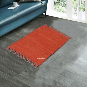 Tapis 100% Coton Naturel 0.6x0.9m Main Tissé Zone Tapis de Sol Tapis Yoga Rug