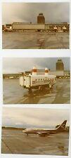 Nordair Airlines Airplane & cockpit Forbisher airport  4 Vintage snapshot photos