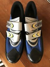 Men's Carnac Cycling Shoes Cleats 41 7.5 Black Blue Bike Road Carbon Composite