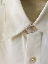 "Tori Richard Hawaii palm tree Mens pure silk short sleeve white shirt 46"" chest"