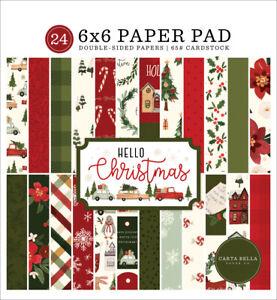 Carta Bella Hello Christmas 6 x 6 Paper Pad