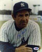 Yogi Berra Psa Dna Coa Autograph 8x10 Photo  Hand Signed Authentic Yankees