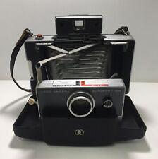 Polaroid Automatic 100 Land Camera 1960's Original Case & Leather Strap - Prop!