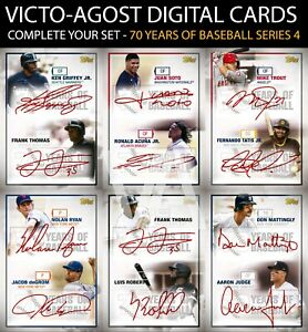 Topps Bunt 70 Years of Baseball S4 SR DUAL SIGNATURE - COMPLETE YOUR SET [BUNT]