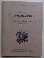 LA PHYSIOPHILE n° 116 06/1992 sciences naturelles histoire archéologie Bourgogne