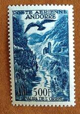 Andorre Français Timbre Poste Aérienne La Valira de l'Orient N°4 /NEUF**/1955-57