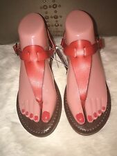 72f2960e2a61ae NWT Mossimo Thong T Strap Buckle Sandals Red Orange Women Size 6