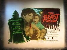 THE BEAST WITHIN 1982 Australian cinema movie projector glass slide horror art