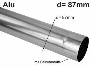 Alu Fallrohr rund d= 87mm  2m (1St a'2m)