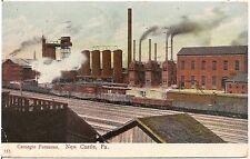 Carnegie Furnaces in New Castle PA Postcard 1907