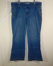 GAP Original Women's Dark Blue Denim Jeans Long and Lean Flare Size 12 12A