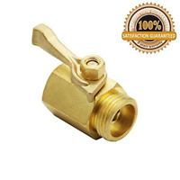 Single Dramm 114960 036434 4 Heavy-Duty Brass Shut-Off Valve