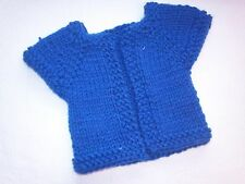 "18"" doll clothes hand knitted Royal Blue short sleeve sweater"
