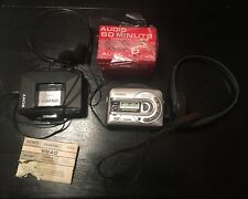 Lot Of Two Vintage Walkman Cassette Tape Players With Headphones & Blank Tapes