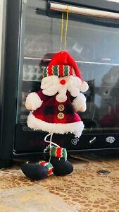 X5 Christmas tree hanging pendants snow flex Santa cute deer xmas decos ornament