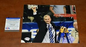 JIM CALHOUN UConn Huskies Signed 8X10 Photo Autographed PSA/DNA COA
