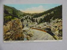 Vintage Curt Teich Postcard One Of Many Graceful RR Curves Montana Canyon