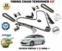 FOR TOYOTA PREVIA 3.5 3456cc 280BHP 2006 >NEW TIMING CHAIN TENSIONER KIT