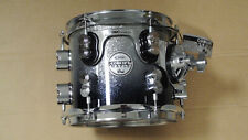 """NEW PDP by DW 8"""" RACK TOM CONCEPT MAPLE SERIES SILVER TO BLACK SPARKLE FADE! K58"""