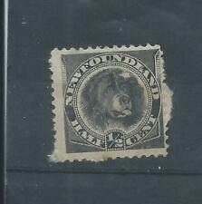Newfoundland stamps. 1894 Newfoundland Dog unused. Stuck to paper (G102)