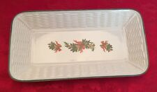 "Pfaltzgraff USA ""Holiday"" Bread Tray/Serving Plate 12"""