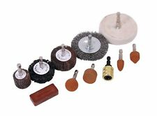 11pc Cleaning and Polishing Kit - Buffing Sanding Rust Removal Drill Bits