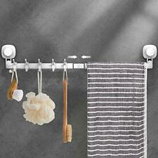 Luxear Suction Cup Towel Bar 24 inches Adjustable Towel Rack No Drill & Remov.