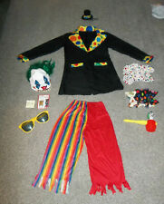 Adults Clown Costume - Standard One Size Fits Most~W/ACCESSORIES~Halloween