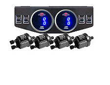 V  Digital Air Ride Gauge & Control Panel 4 Switches  Air Suspension System