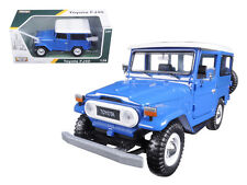 Motor Max 1:24 W/B Platinum Toyota Fj40 With White Top Diecast Car Model 79323