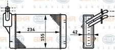 Wärmetauscher, Innenraumheizung für Heizung/Lüftung HELLA 8FH 351 311-011