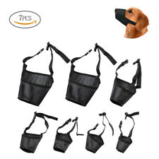 7 Pcs Anti-biting Barking Pet Muzzles Adjustable Mouth Cover for Small Large Dog