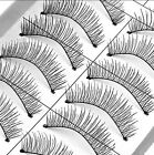 Handmade 10 Pairs Eye Lashes Cross False Eyelashes Extension Makeup Soft Natural