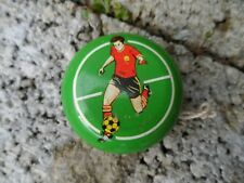 Vintage metal Lumar Yo-Yo - mid century child's toy - Be a sport series Football