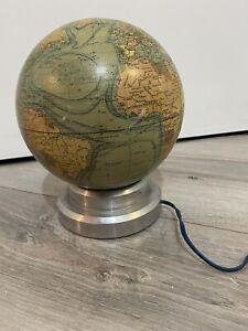 ANCIEN MAPPEMONDE LAMPE GLOBE TERRESTRE Année 30 Art Déco
