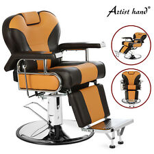 Reclining Heavy Duty Hydraulic Barber Chair Professional Salon Styling Equipment