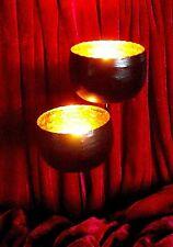 ❀ 2 x Teelichtstecker Gold Schwarz Ø 8cm Adventskranzstecker Metall Stecker #7A