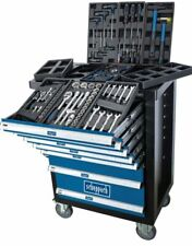 scheppach TW1100 Kit Carrello da Officina con 70 Attrezzi - Blu