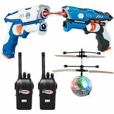 Infrared Laser Tag Guns 2 Players Blasters Game w/2 Walkie talkies Christmas
