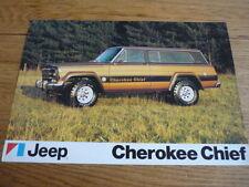 JEEP CHEROKEE CHIEF CAR BROCHURE  jm