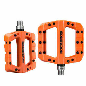 ROCKBROS Bicycle Pedal Road BMX Mountain Bike Flat Pedals 9/16'' Nylon Pedals