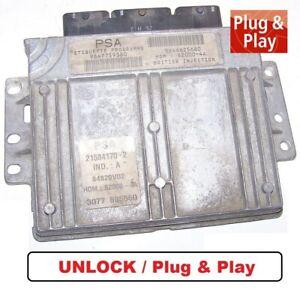 Controlador Peugeot 206 1,4l Kfw 55KW 9647759380 9644625680 Immo Unlock ECU