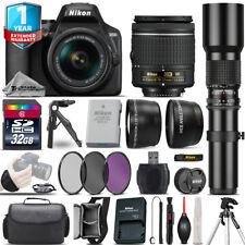 Nikon D3500 DSLR Camera + 18-55mm VR + 500mm Lens + Filter Kit + 1yr Warranty