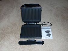 GEORGE FOREMAN GRILL MODEL GRP1060B WITH REMOVABLE PLATES