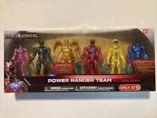 New Power Rangers Team with Goldar Action Figure Set Morphin Metallic 6-Pack