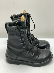 GERMAN ARMY PARATROOPER BOOTS UK 7 650 BLACK LEATHER ARMY CADETS