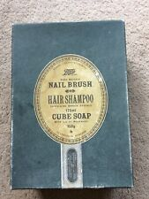 More details for vintage boots gift set, nail brush,hair shampoo,cube soap