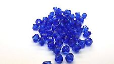 25g - 8mm Cobalt Blue Acrylic Faceted Bicone Beads scatter crystals -A5339